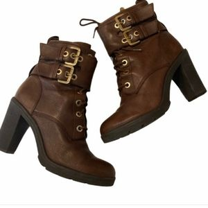 GUESS- Finlay High Heel Combat Boots